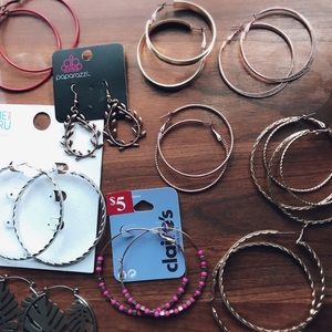 Lot of Hoop Earrings